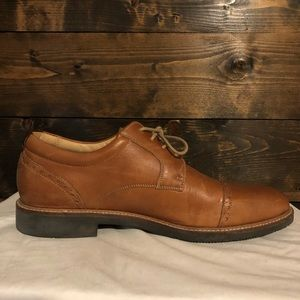 Johnston & Murphy Brown Leather Cap-Toe Shoes
